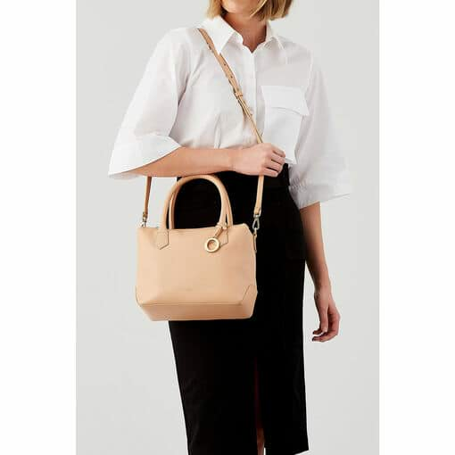 Oroton Capri Small Day Bag in Caramel and Pebble Leather for female