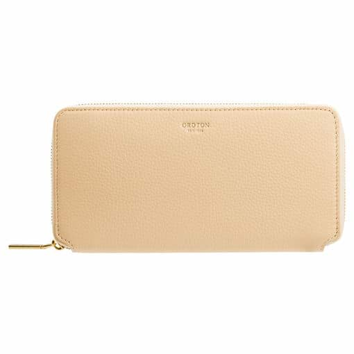 Oroton Margot Medium Zip Wallet in Nougat and Pebble Leather for female