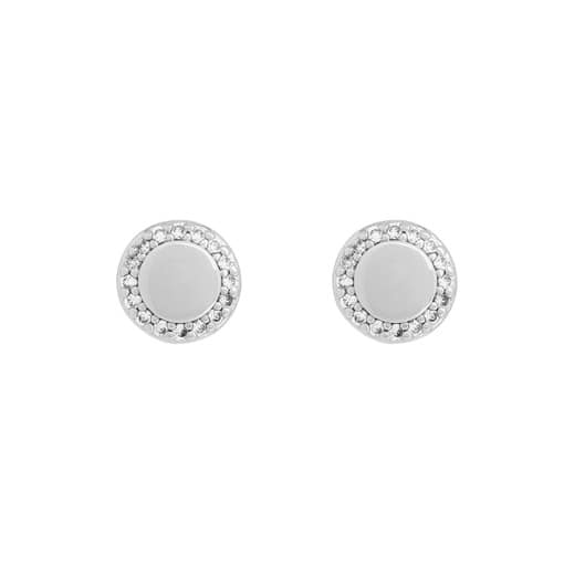 Oroton Avalon Small Studs in Silver and Brass Base Metal for female