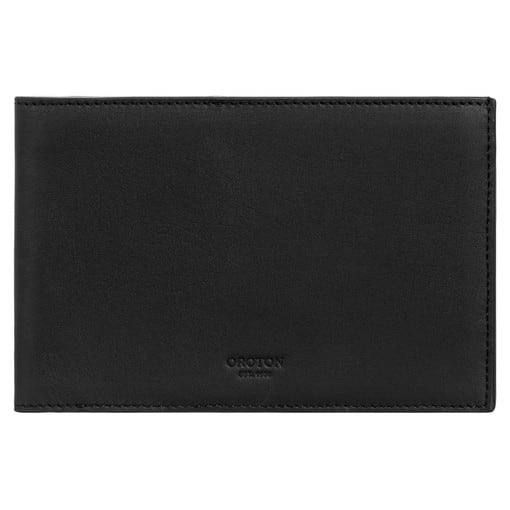 Oroton Buckley Passport Bifold in Black and Smooth Leather for male
