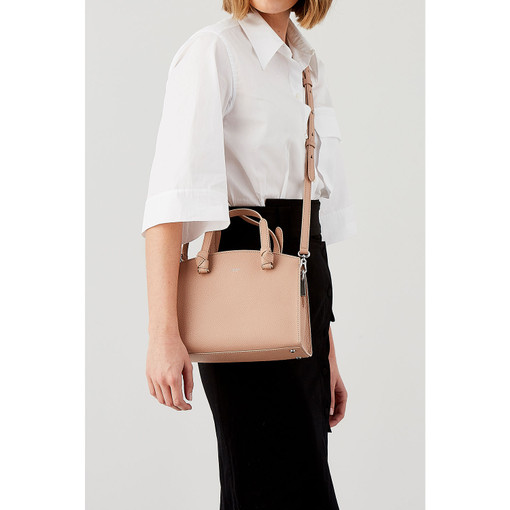 Oroton Atlas Small Day Bag in Biscuit and Pebble Leather for female