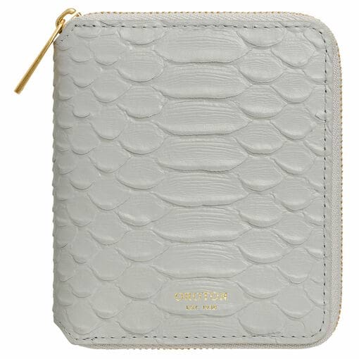 Oroton Muse Texture Small Zip Wallet in Pale Quartz Texture and Snake Embossed Leather for female