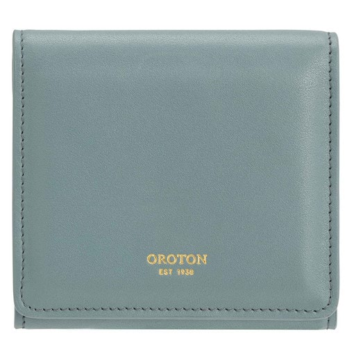 Oroton Elena Small Fold Wallet in Dark Teal and Smooth Leather for female