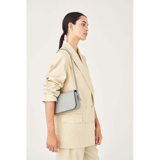 Oroton Anouk Baguette Bag in Quartz and Pebble Leather for female