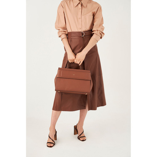 Oroton Elena Tote in Whiskey and Smooth Leather for female