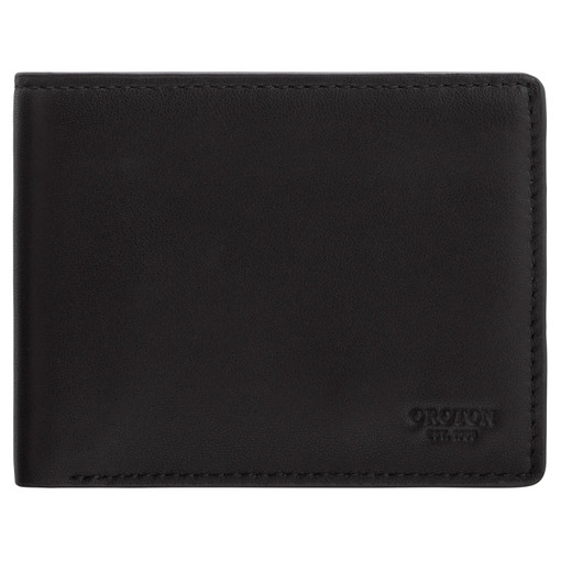 Oroton Oliver 8 Credit Card Wallet in Black and Smooth Nappa Leather for male
