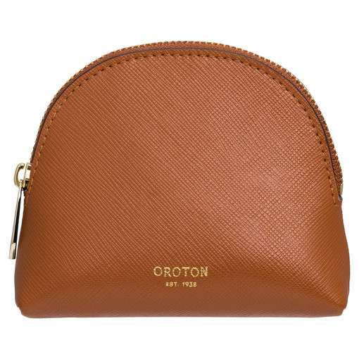 Oroton Inez Pouchette in Cognac and Shiny Soft Saffiano for female