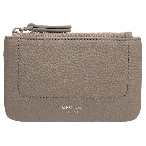 Oroton Lucy Coin Purse in Stone and Pebble Leather for female