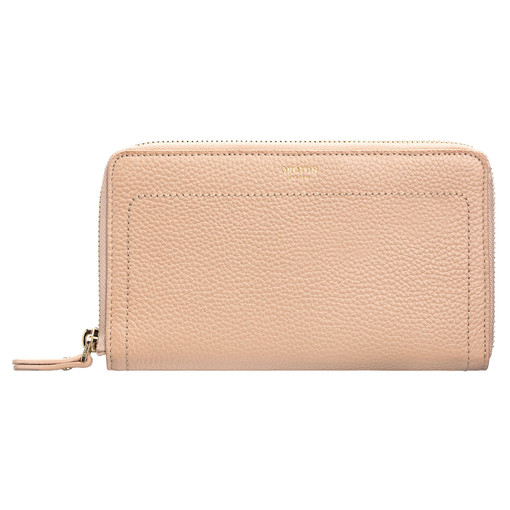 Oroton Lucy Book Wallet in Praline and Pebble Leather for female