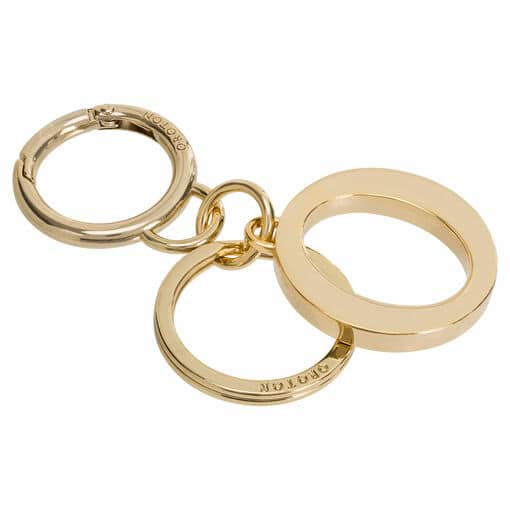 Oroton Signet O Keyring in Gold and Metal for female