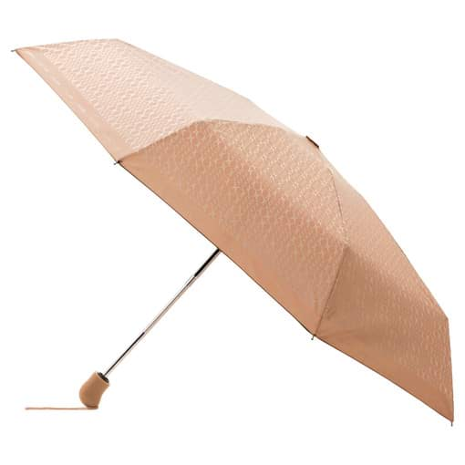 Oroton Signet Small Umbrella in Biscuit/Cream and Printed Ponge Fabric for female