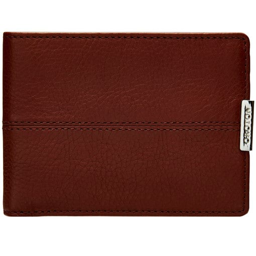 Oroton Austere Mini Wallet in Chocolate and Chocolate Leather for male