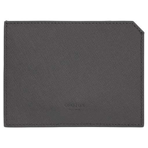 Oroton Eton 6 Card Sleeve in Storm and Saffiano/Smooth Leather for male