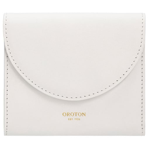 Oroton Etta Small Continental Wallet in Cream and Smooth Leather for female