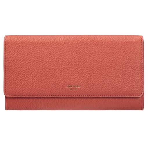 Oroton Duo Wallet And Pouch in Faded Red and Pebble Leather for female