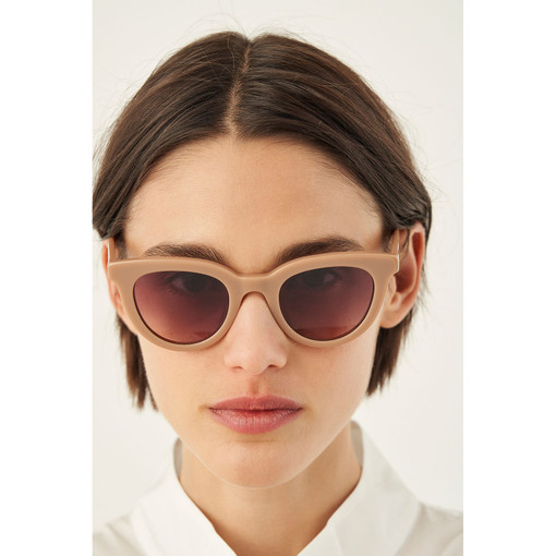 Oroton Heidi Sunglasses in Biscuit and Acetate for female