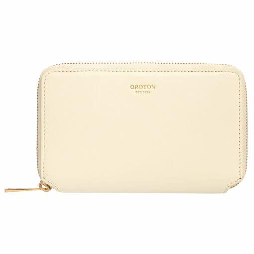 Oroton Evelyn Small Book Wallet in Pale Lemon Curd and Smooth Leather for female