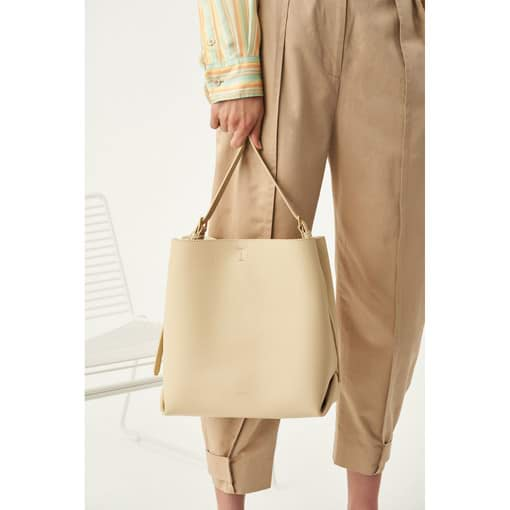 Oroton Margot Hobo in Light Sand and Pebble Leather for female