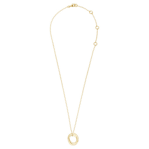 Oroton Elsie Double Necklace in Gold and Brass Base Metal With Precious Metal Plating for female