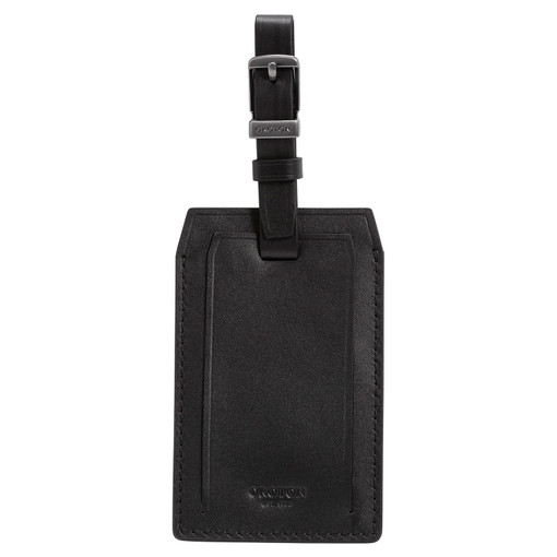 Oroton Robin Passport Cover And Luggage Tag in Black and Smooth Leather for male