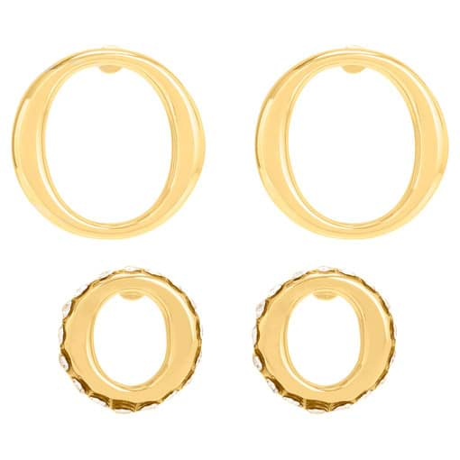 Oroton Elsie Small And Mini Studs in Gold and Brass Base Metal With Precious Metal Plating for female