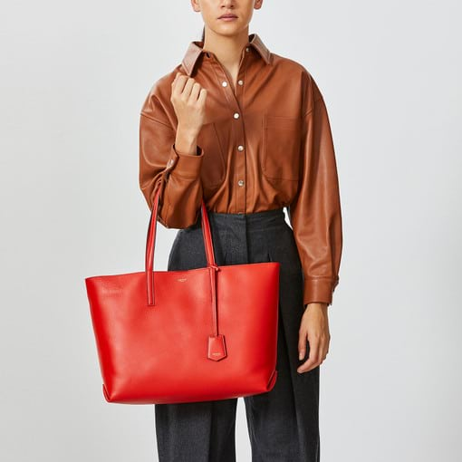 Oroton Duo Medium Tote in Chilli/Biscuit and null for female