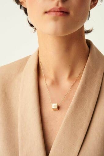 Oroton Cuba Simple Necklace in Gold and null for female