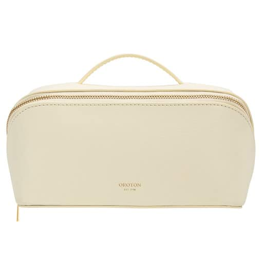 Oroton Avani Medium Case in Pale Lemon and 60% off-cut leather fibres, 30% vegetable origin, 10% synthetic for female