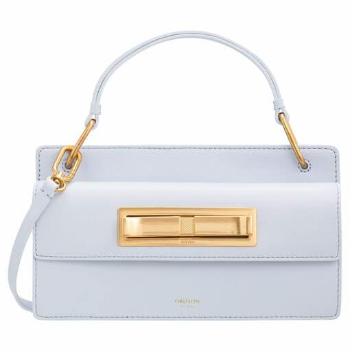 Oroton Luna Small Day Bag in Sky Blue and Smooth Leather for female