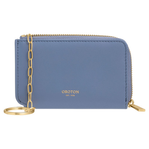 Oroton Charlie Key Holder in Cornflower and Smooth Leather for female