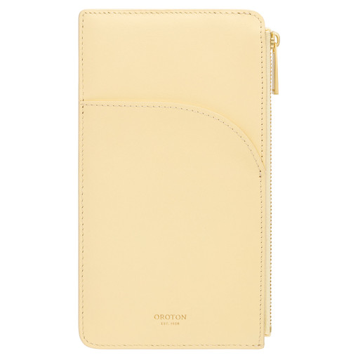 Oroton Charlie Phone Pouch in Lemon Curd and Smooth Leather for female