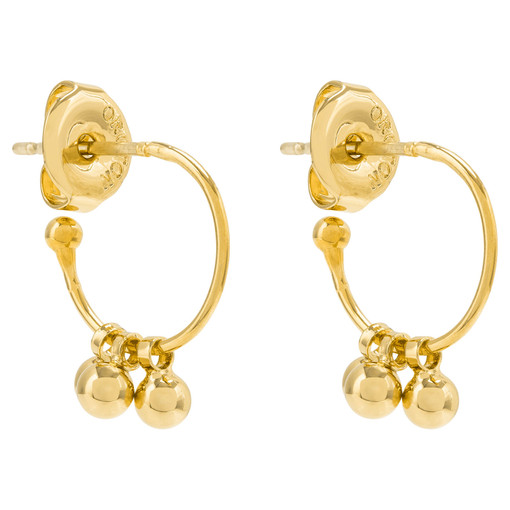 Oroton Petite Blair Mini Hoops in Gold and Brass Based Metal With Precious Metal Plating for female