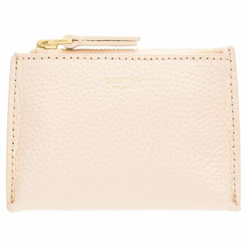 Oroton Anna Coin Pouch in Soft Peach and Pebble Leather for female