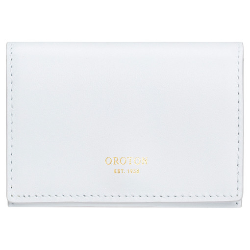 Oroton Alexis Multi Gusset Card Holder in Ice Blue and Smooth Leather for female