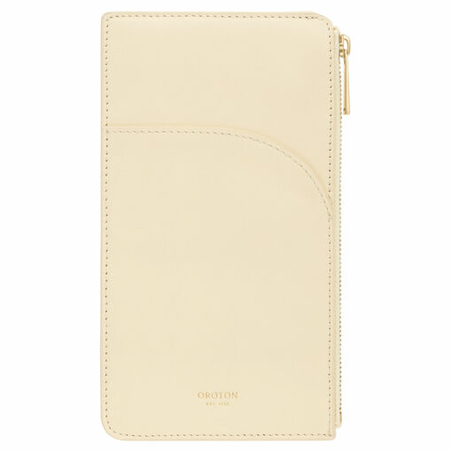 Oroton CHARLIE- PHONE POUCH, VANILLA, O in null and null for null