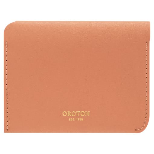 Oroton Charlie 4 Credit Card Holder in Treacle and Smooth Leather for female