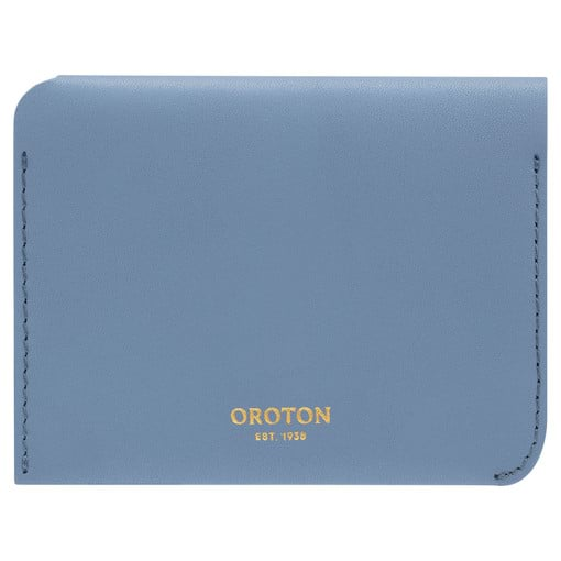 Oroton Charlie 4 Credit Card Holder in Cornflower and Smooth Leather for female