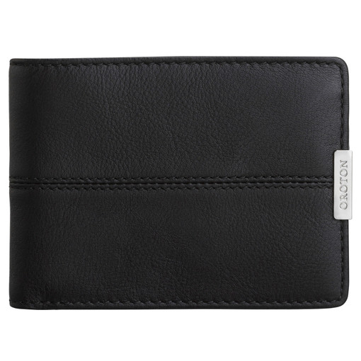 Oroton Austere Mini Wallet in Black and Black Leather for male
