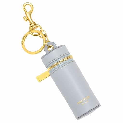 Oroton Charlie Lipstick Keyring in Dusk Blue and Smooth Leather for female