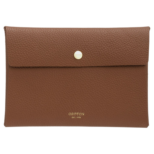 Oroton Margot Small Pouch in Whiskey and Pebble Leather for female