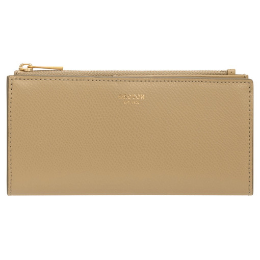 Oroton Muse Slim Zip Wallet in Cinnamon and Saffiano / Smooth for female