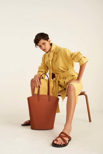 Oroton Muse Tote in Cognac and Saffiano / Smooth for female
