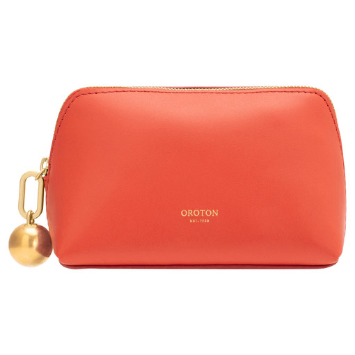 Oroton Willow Small Case in Poppy and Smooth Leather for female