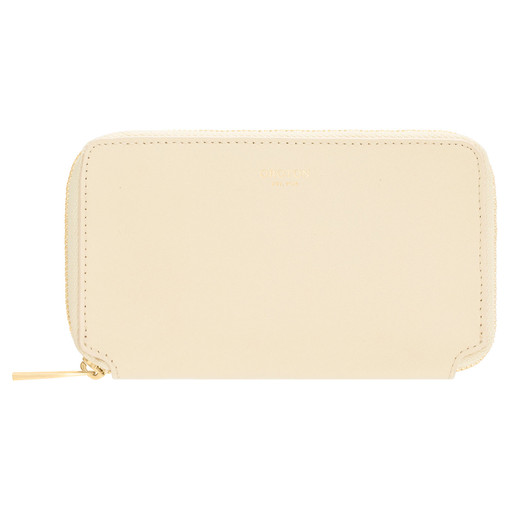 Oroton Willow Mini Book Wallet in Vanilla and Smooth Leather for female