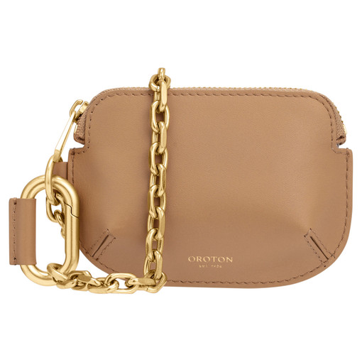 Oroton Roy Chain Wristlet in Sahara and Smooth Leather for female