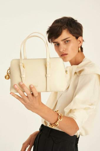 Oroton Willow Small Day Bag in Vanilla and Smooth Leather for female