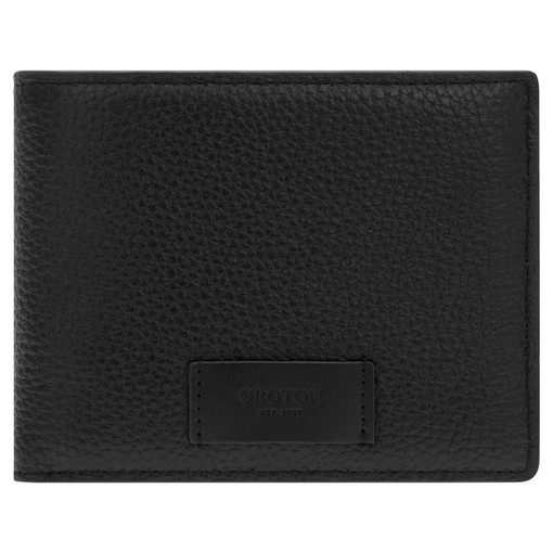 Oroton Lucas 12 Credit Card Zip Wallet in Black and Pebble Leather for male