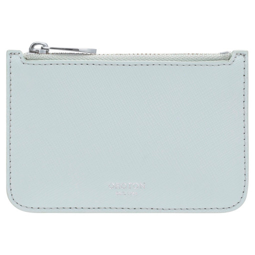 Oroton Harriet Credit Card Holder in Chalk Blue and Saffiano Leather for female