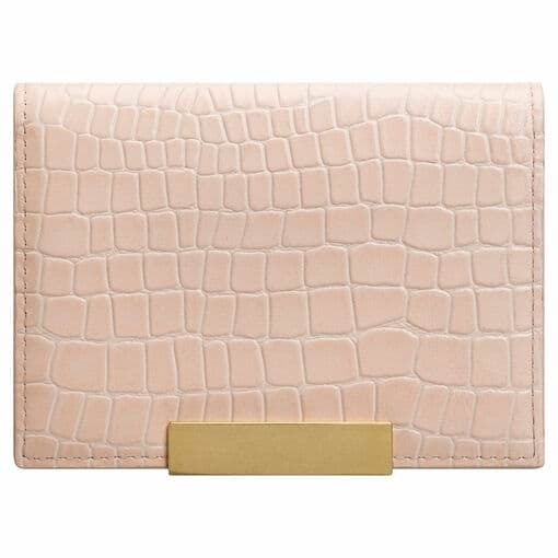 Oroton Voyage Texture Mini Clutch Wallet in Peach and Smooth Leather for female