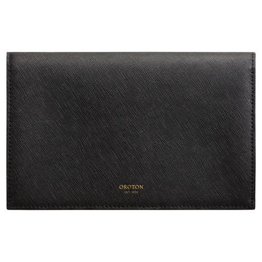 Oroton Maud Large Clutch Wallet in Black and Saffiano for female